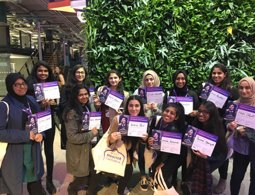 Beal Students attend Monster Confidence STEMettes event